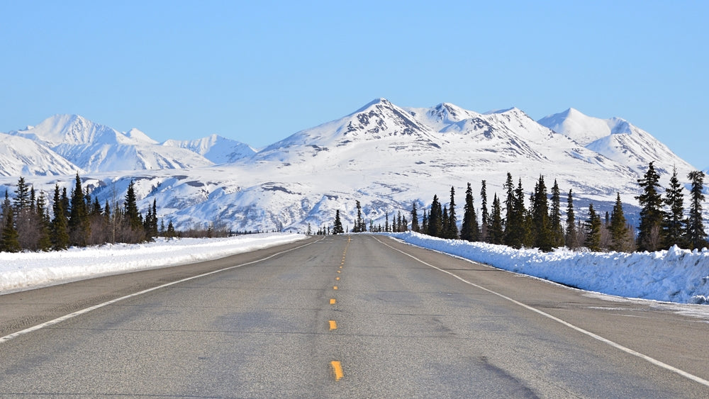 View of Scenic Highway Alaska