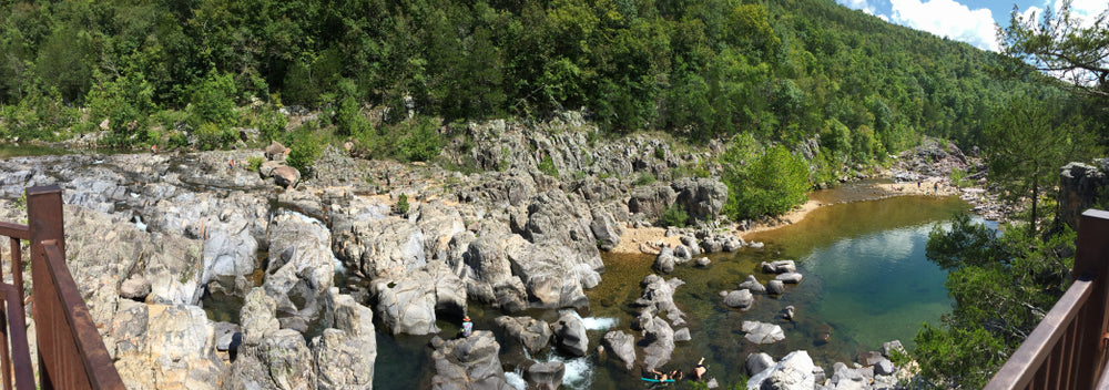 View of Sunny Day in Johnsons Shut-ins State Park Missouri