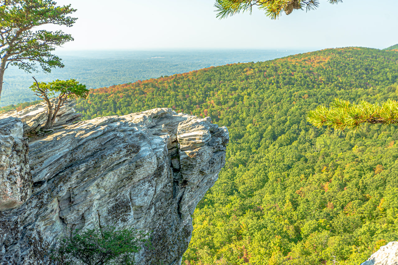 View of Sunny Day of Hanging Rock State Park North Carolina