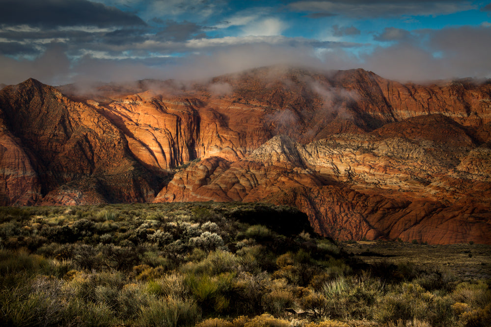 View of Sunset in Snow Canyon State Park Utah