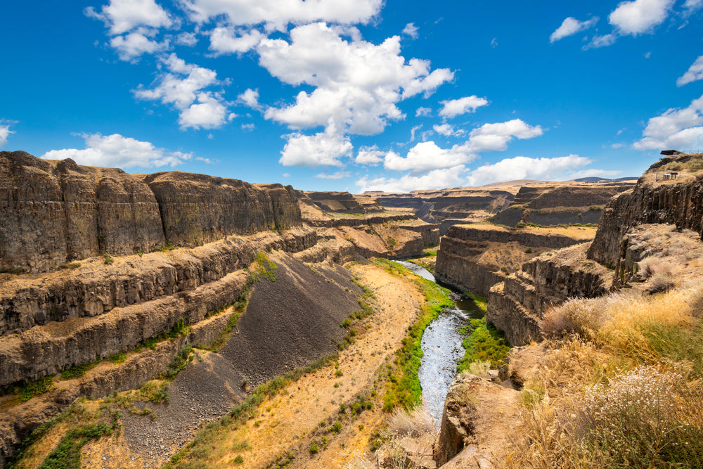 View of Trail Canyon and River Palouse Falls State Park