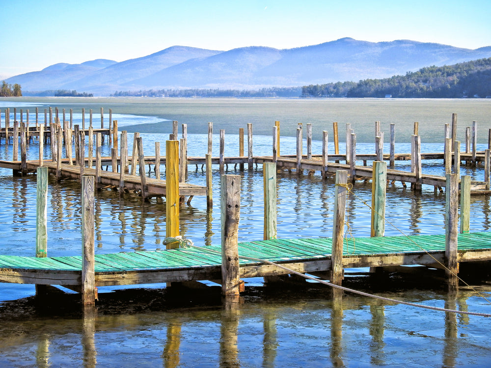 View of Village Dock at Lake George RV Park New York