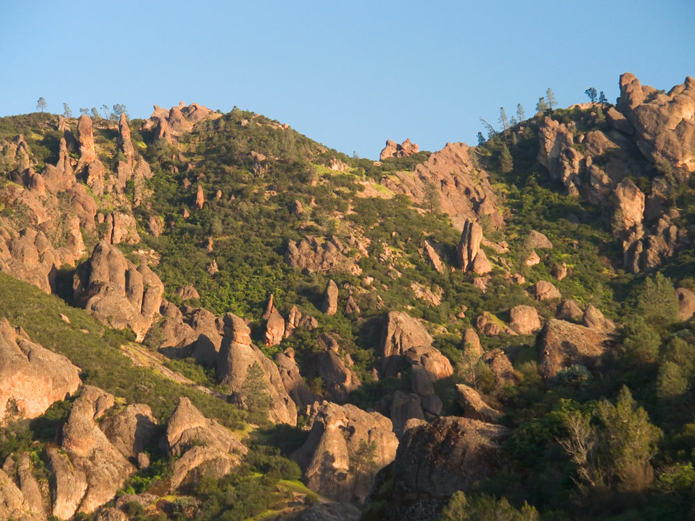 Volcanic Boulders Along Western Side of Mountains in Pinnacles National Park