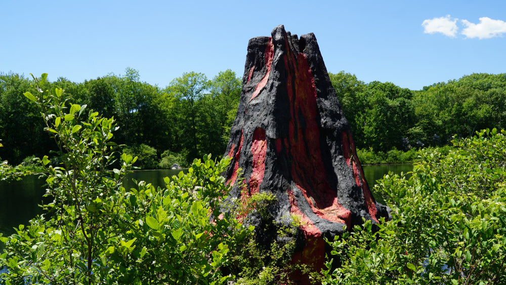 Volcano at Dinosaur State Park Connecticut