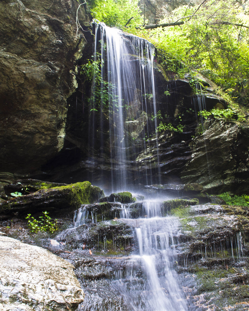 Waterfall on a Sunny Day Hanging Rock State Park North Carolina