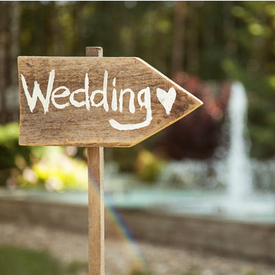 wedding sign at the rv park