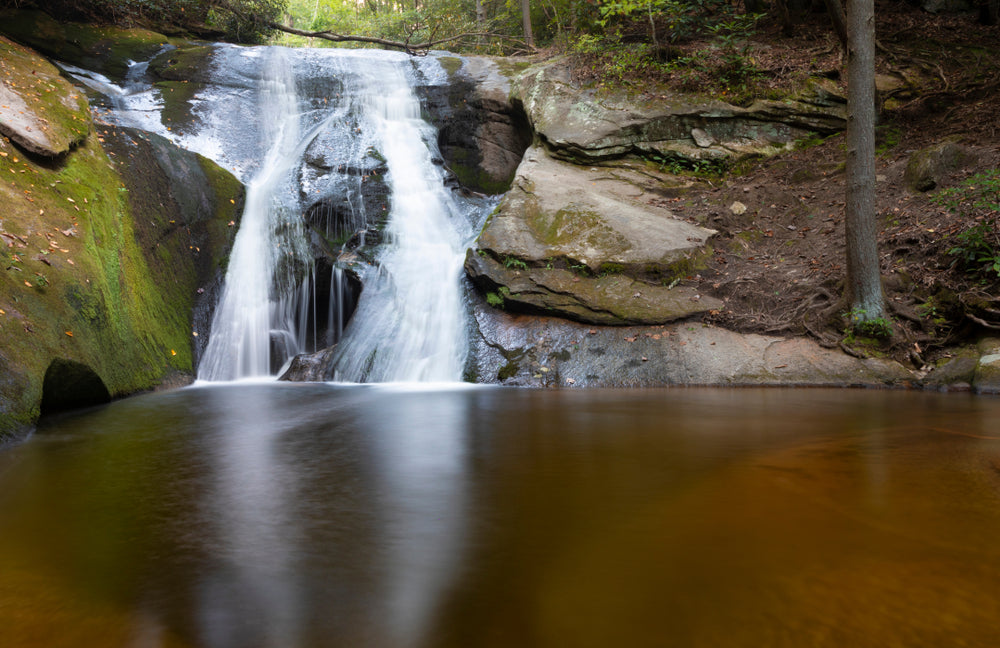 Widow Falls in State Mountain State Park North Carolina
