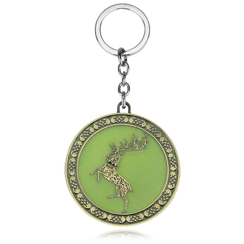 House Baratheon Glow in the dark Key Chain
