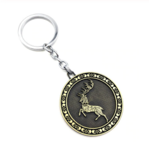 House Baratheon Classic Emblem Key Chain