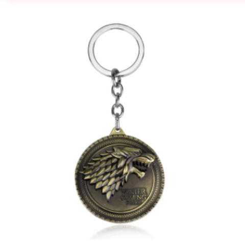 "House Stark ""Winter is Coming"" Key Chain"