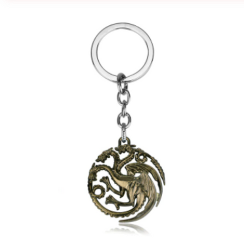 House Targaryen Three Headed Dragon Key Chain