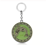 House Tully Glow in the Dark Key Chain