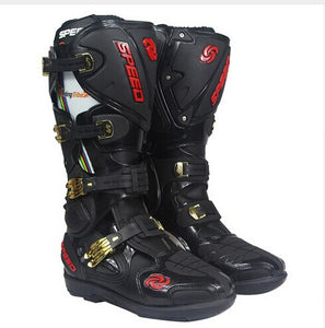 Riding Trider  100% NEW Motorcycle Boots Motocross Leather Long knee-high Shoes white black moto GP dirty bike SIZE 10-47 B1004