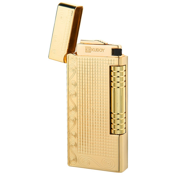 High Quality Brand Lighter White Brushed Nickel Metal Windproof Lighter Men Business Gifts