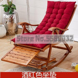 Bamboo rocking chair home balcony rocking chair recliner adult lunch break siesta lazy casual wood old man happy chair