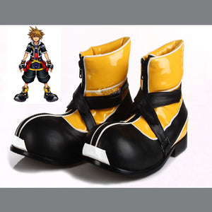 Casual Boots Kingdom Hearts I Sora Cosplay Shoes Man PU Leather Shoes Comfortable Winter Boots High Quality