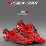 19 SIDI Shot Carbon Sole Men Road Bike Bicycle Shoes Anti-slip Breathable Cycling Shoes Triathlon Athletic Sport Shoes
