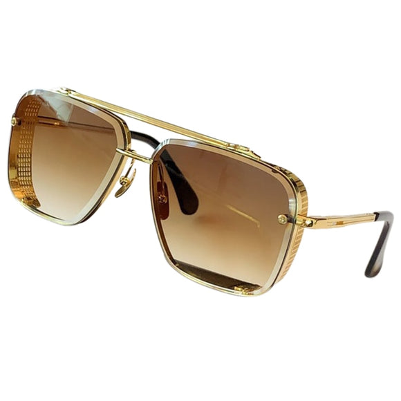 Luxury Brand Designer Square Sunglasses Men Metal Frame Vintage Sun Glasses Women UV400