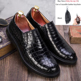 Crocodile Shoes Men Dress 100% Genuine Leather Brand Designer Party Wedding Luxury Men's Leisure Casual Formal Alligator Shoes