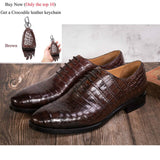 Crocodile Shoes Men Dress 100% Genuine Leather Brand Designer Party Wedding Luxury Men's Oxford Casual Formal Alligator Shoes