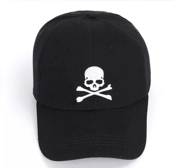 Men Women Adjustable Skull Design Print Baseball Cap Summer Fashion Black Hat Skeleton Head Gift Halloween