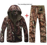 XS-3XL Men Outdoor sets Waterproof softshell Jackets pants V5.0 sports hunting camping thermal Tactical anti-wear hiking Suits
