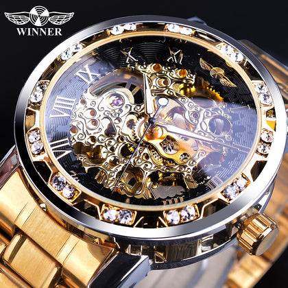 Winner Skeleton Luxury Watch