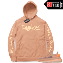 Load image into Gallery viewer, Yeezy 350 Clay | Fake Love | Light Clay Hoodie