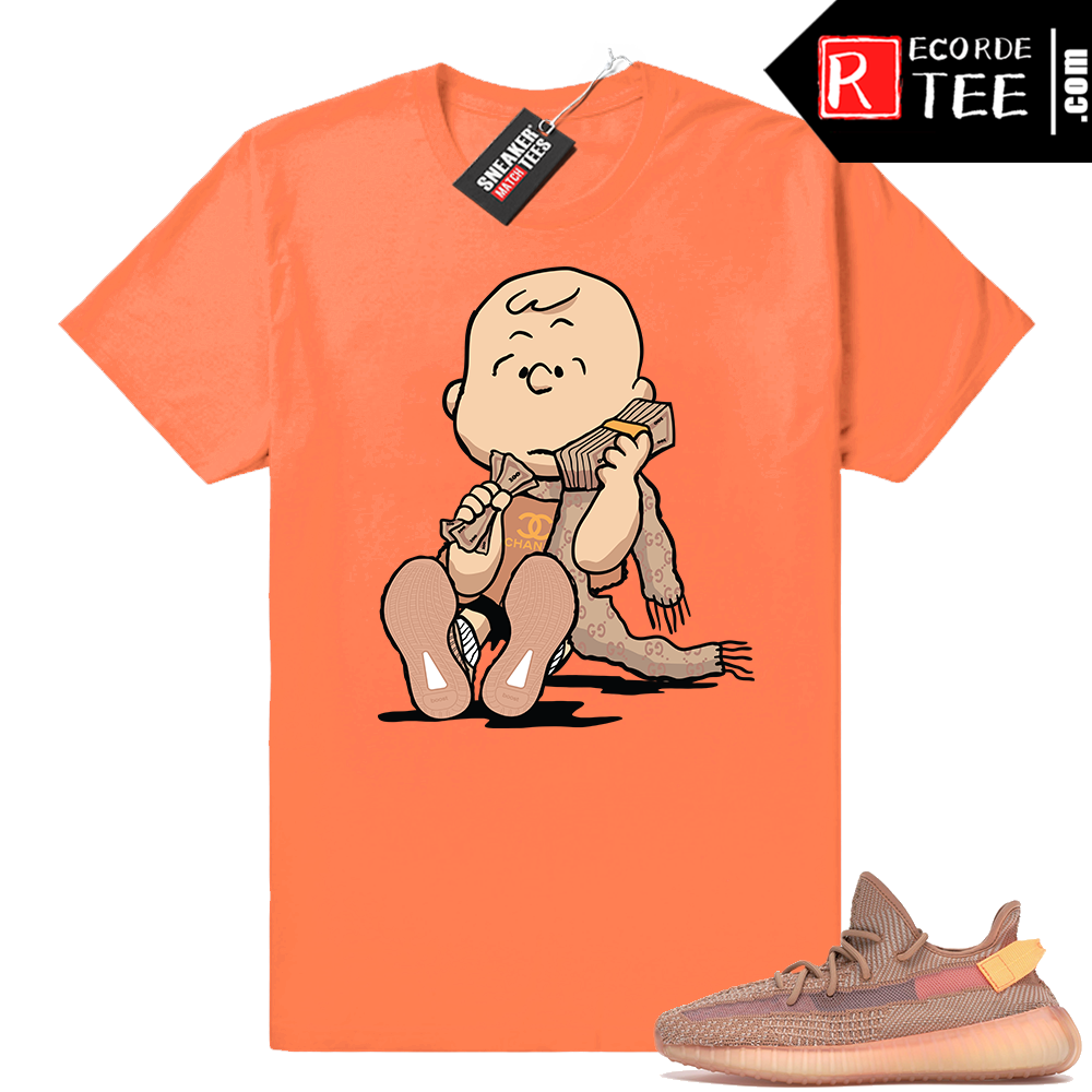 Yeezy 350 Clay | Designer Charlie | Hyper Orange Shirt
