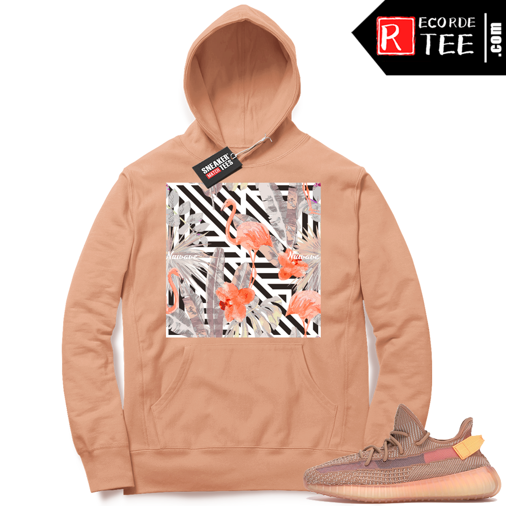Yeezy 350 Clay | NuWave Flamingos | Light Clay Hoodie