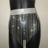Rhinestone Mini Skirt