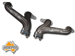 cast iron dual outlet Aussiespeed grey motor headers