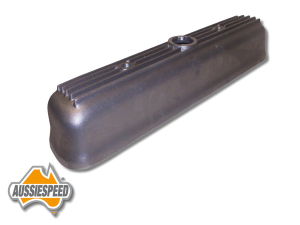AS0121R-5 Grey Motor Holden Alloy Rocker Cover 5 Finned Raw