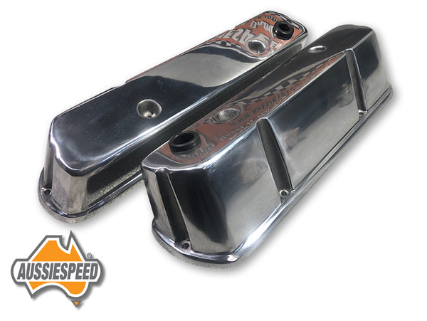AS0146P Holden Tall Alloy Rocker Covers VN Onwards V8 Polished