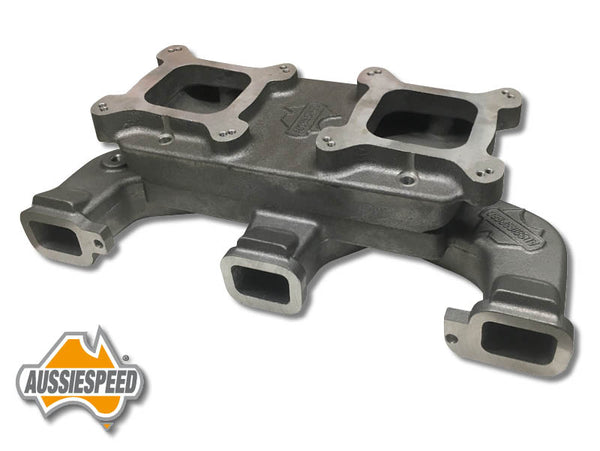 AS0038-AS0139 Dual Quad Intake Manifold Chevy 250 292 Inline 6 Cylinder