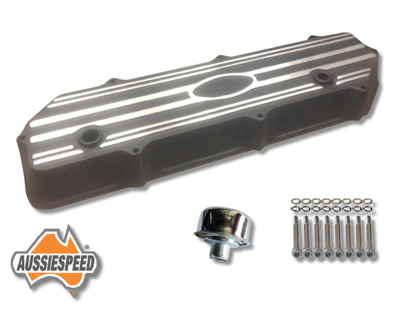 AS0046B-AS0083-AS0035 Ford 250 Crossflow Engine Alloy Rocker Cover Tall Black Kit