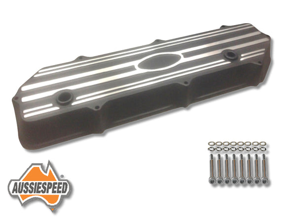 AS0046B-AS0083 Ford 250 Crossflow Falcon Engine Alloy Rocker Cover Tall Black Kit