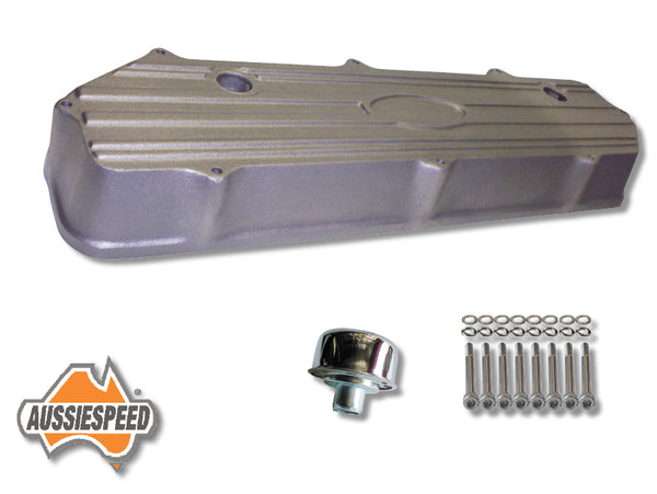 AS0046R-AS0083-AS0035 Ford 250 Crossflow Falcon Engine Alloy Rocker Cover Tall Raw Kit