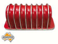 AS0057RED Finned Coil Cover Red