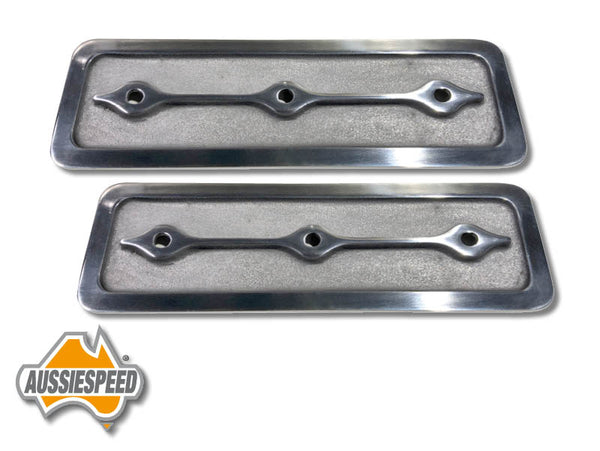 AS0064P Holden 6 Alloy Side Plates Retro Style Polished