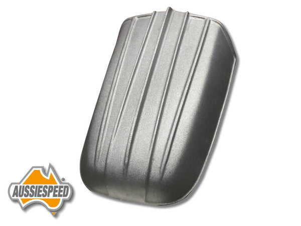 AS0111R Hot Rod Style Small Finned Hood Scoop Raw