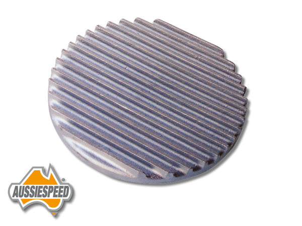 "AS0115R 9"" Hotrod Style Air Cleaner Lid Finned Aluminium Raw"