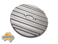 "AS0116RASS 9"" Ford Air Cleaner Lid Finned Aluminium Raw Plus Steel Base"