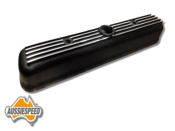 AS0121B-5 Grey Motor Holden Alloy Rocker Cover 5 Finned Black