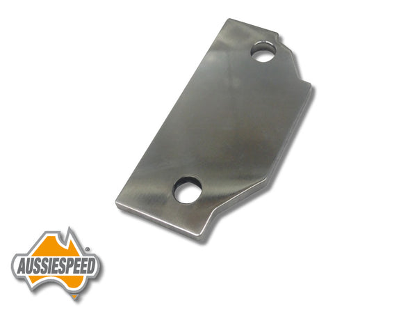 AS0136P Holden V8 253, 304, 308, Fuel Pump Block Off Plate 6mm Polished