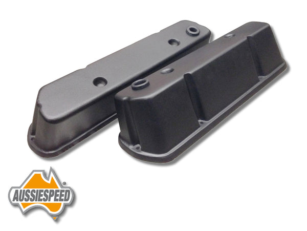 AS0146B Holden Tall Alloy Rocker Covers VN Onwards V8 Black
