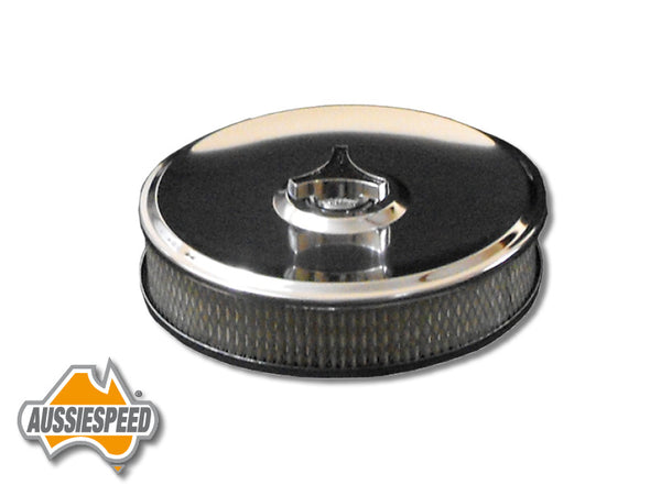 "AS0177 Chrome Air Filter 9x2"" Suit 2 Barrel Carburettors With a 2 5/8"" Neck"