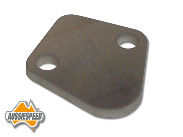 AS0182R Polished Billet Aluminium Fuel Pump Block Off Raw Suits 6 Cylinders