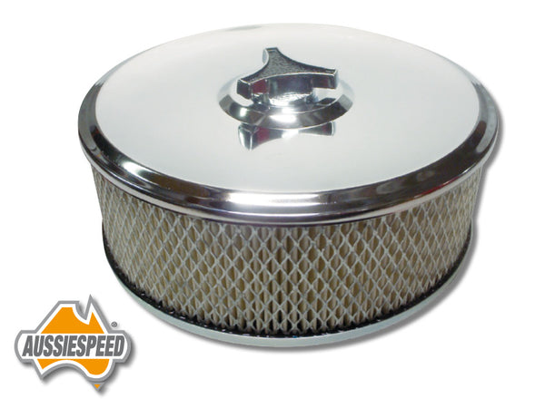 "AS0191 Chrome Air Cleaner Assembly Suit Holley 6 3/4"" x 3"" 5 1/8"" neck"