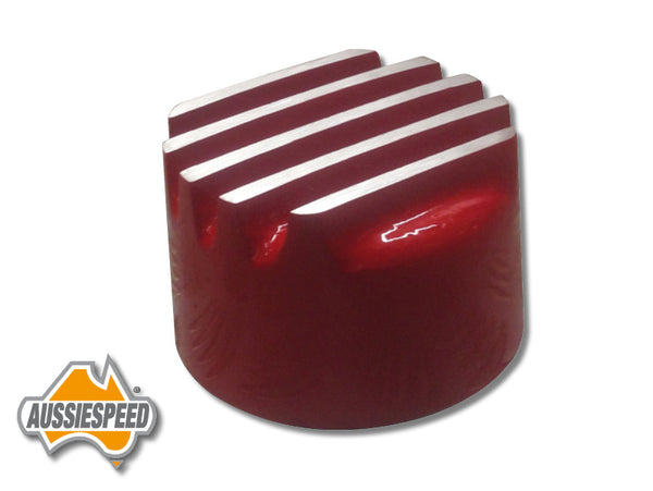 AS0196RED Mopar Style Finned Push In Oil Cap Red